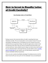 Standby Letter of Credit Investment.pdf