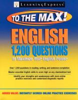 English to the Max 1,200 Questions That Will Maximize Your English Power.pdf