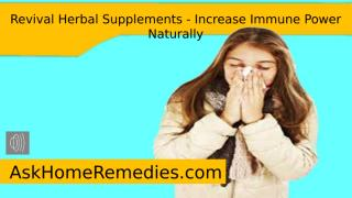 Revival Herbal Supplements - Increase Immune Power Naturally.pptx