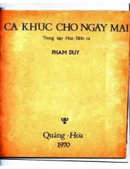 Tuyển tập Phạm Duy -  Ca Khúc Cho Ngày Mai.pdf