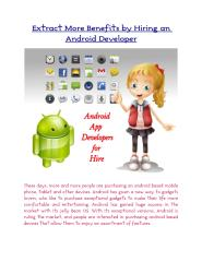 Extract More Benefits by Hiring an Android Developer.pdf